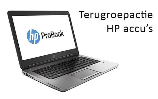 Terugroepactie HP accu's