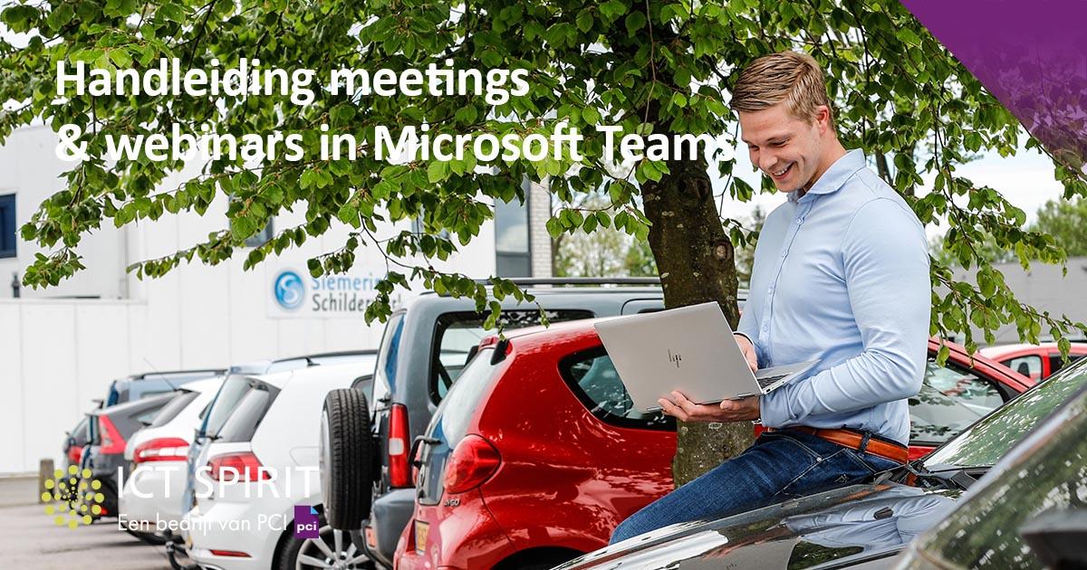 """Handleiding """"Meetings & webinars in Microsoft Teams"""""""