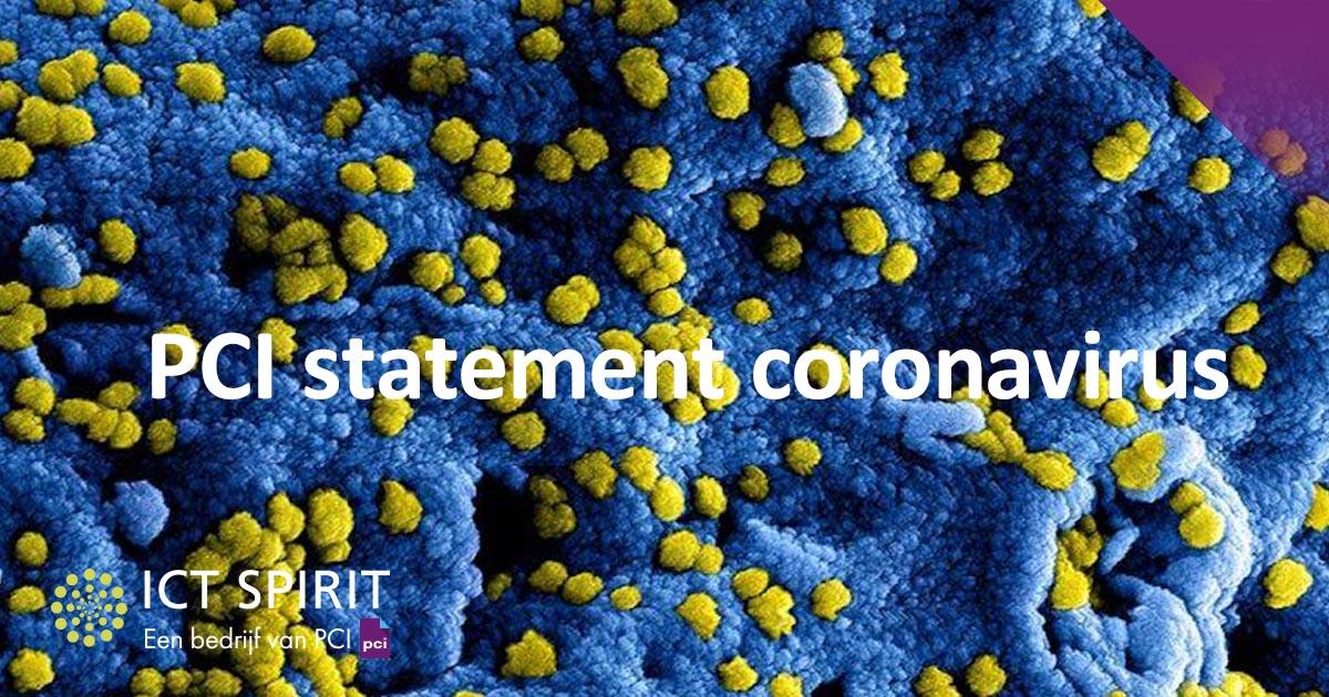 PCI statement coronavirus